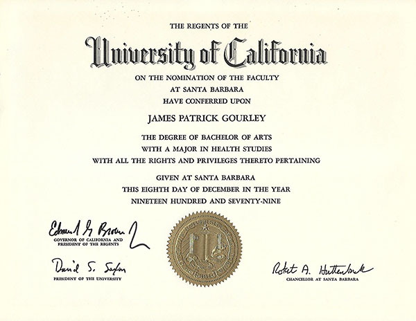 education  certifications - jim gourley