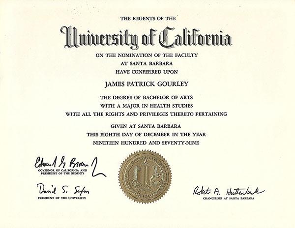 Education/Certifications - Jim Gourley - Fitness Trainer Santa Barbara