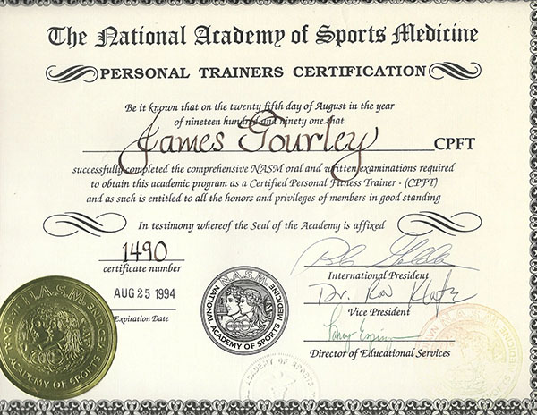 NASM Personal Trainer Certification Santa Barbara
